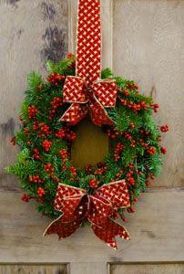 cute wreath for CHRISTmas