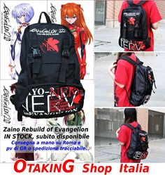 Zaino Evangelion con logo Rebuild! Nuovo, imbustato! Subito disponibile per consegna a mano su ROMA o spedizione in tutta Italia! Per info e per acquistarlo--> https://www.facebook.com/otakingshopitalia/photos/a.643129685817184.1073741831.643117879151698/653325841464235/?type=1&theater Aggiungi la pagina Facebook: OTAKING Shop Italia!
