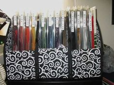 I ve struggled to find an organized way to keep my misc sized scraps I have my larger ones organized by size i e etc but the misc ones have been a real pain I found these plastic boxes at my LSS They are 8 and snap closed The clamshel Scrapbook Paper Storage, Craft Paper Storage, Scrapbook Organization, Paper Organization, Organization Ideas, Craft Storage Solutions, Storage Ideas, Craft Room Design, Paper Supplies