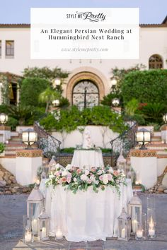 This romantic Persian wedding at Hummingbird Nest Ranch is one you just HAVE to see on SMP! 😍 The day had a modern twist that incorporated a lush and dashing Persian wedding aesthetic with a more minimal approach to western culture. In the full gallery, you'll find dreamy snaps of the bride's @inesdisanto gown as well as beautiful floral compositions by @uniquefloraldesigns! 💐  Photography: @jessicamangia_photography  #californiawedding #hummingbirdnestranch #persianwedding #elegantwedding