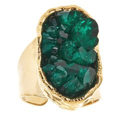 Emerald Cluster Ring (Oval)