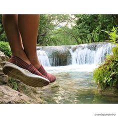 @verdepordentro nos deja esta postal de ensueño 😍 #shoefie #travellers #conociendoMéxico #nature #confort #travel #shoes #calzadohispana #calzadomexicano #México #potd #huasteca