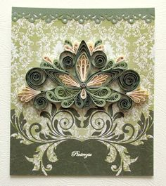 Quilling card by pinterzsu