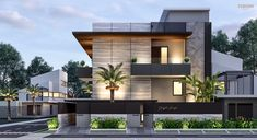 47 inspiring modern house design ideas 2019 35 > Fieltro Net is part of Facade house - 47 inspiring modern house design ideas 2019 35 Related Modern Exterior House Designs, Modern Architecture House, Modern House Design, Exterior Design, Facade Architecture, Modern Bungalow Exterior, Duplex House Plans, Bungalow House Design, House Front Design