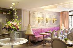 La Maison Favart, Paris Boutique Hotel love all the neutrals with pink upholstery.