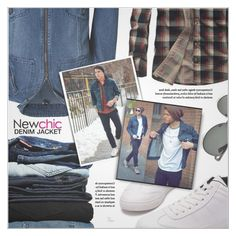 """""""Denim Jacket (Newchic #16)"""" by petrapoly ❤ liked on Polyvore featuring 7 For All Mankind, men's fashion, menswear, polyvorecommunity, menfashion and PolyvoreMostStylish"""