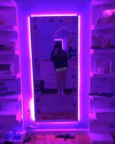 Neon Bedroom, Room Ideas Bedroom, Comfy Bedroom, Girl Bedroom Designs, Bedroom Images, Cute Room Decor, Teen Room Decor, Aesthetic Galaxy, Aesthetic Green