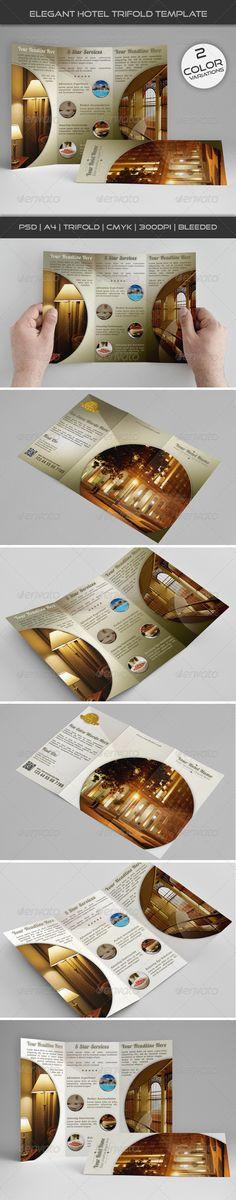 Hotel and Motel Tri-Fold Brochure Template Tri fold brochure - hotel brochure template