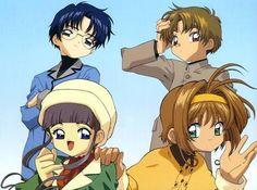Eriol, Shaoran, Tomoyo y Sakura