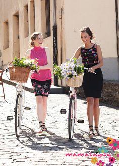 (From left to right)  Dress 1: Sottomarina Dress 2: Venecia  http://www.mamatayoe-shop.com/