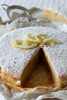 Torta al limone light senza uova e burro Tortitas Light, Pastry Shop, Sweet Cakes, Coffee Cake, Yummy Cakes, Biscotti, Dairy Free, Gluten Free, Cake Recipes