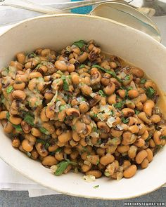 Lucky Black-Eyed Peas for New Years Day...with collards and cornbread