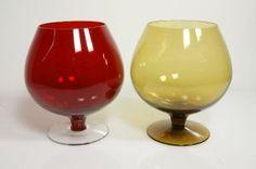 Saara Hopea, Aromilasi 1136 Hurricane Glass, Glass Design, Finland, Mid-century Modern, Scandinavian, Enamel, Mid Century, Pottery, Tableware