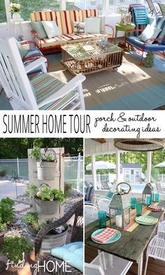 Summer Home Tour - Screened Porch and Outdoor Decorating Ideas via Finding Home