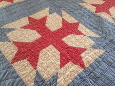 Vintage Hand Stitched Quilt Heirloom Quilt Queen, FlyingFigs, Etsy
