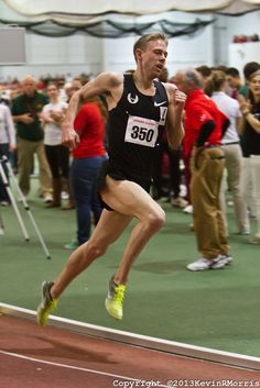 Galen Rupp putting the hammer down in the mile at the Boston University Terrier Invitational Indoor Track Meet (2013). Rupp wins the Elite Mile in 3:50.92.