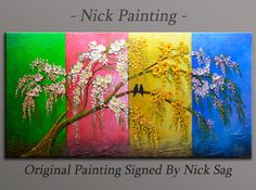 Large Impressionist Modern wall Decor Four by NickPainting on Etsy