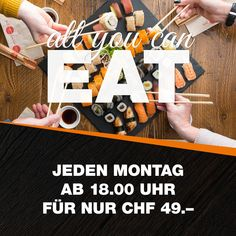 Jeden Montag in ausgewählten Nooch! Mehr Infos: www.nooch.ch/angebot#specials #ssbd #allyoucaneat Eat Sushi, Catering, Asian Kitchen, Calendar, Holiday Decor, Restaurants, Home Decor, Food, Projects To Try
