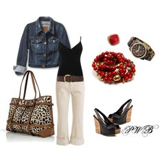 LEOPARD AND RED, created by pamela-barrett-williamson on Polyvore