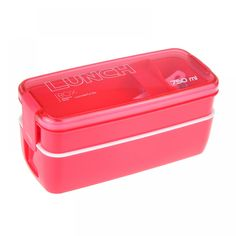 750 ml Lunch Box //Price: $16.98 & FREE Shipping // #fitnessdddict #exercise 750 ml Lunch Box Bento Recipes, Lunch Box Recipes, Lunch Containers, Food Storage Containers, Plastic Lunch Boxes, Fruit Storage, Bento Box Lunch, Bento Food, Japanese Lunch