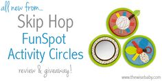 Skip Hop FunSport Activity Circle Review - these fits directly into the awesome PlaySpot tiles to provide a sensory element!