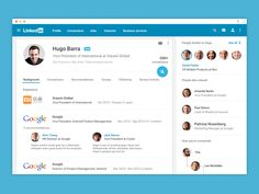 Linkedin for web - Material Design by Rico Monteiro