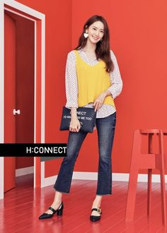 More of SNSD YoonA's delightful pictures from 'H:Connect' ~ Wonderful Generation ~ All About SNSD, Wonder Girls, and f(x) Snsd Fashion, Asian Fashion, Girl Fashion, Fashion Outfits, Korean Girl, Asian Girl, Yoona Snsd, Asian Celebrities, Rosacea
