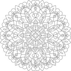 13. Flower Mandala printable coloring page. by PrintBliss on Etsy