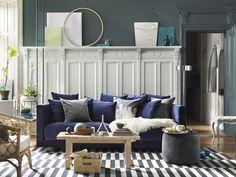 Stylisten Tina Hellberg har inrett ett hem med Ikeas populära kollektion Stockholm 2017.
