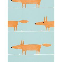 Fantastic Mr Fox Wallpaper from John Lewis £34 per roll