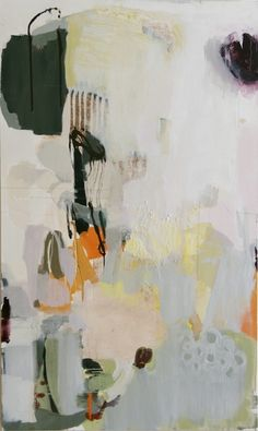 "Madeline Denaro: ""Seeing with One's Heart"", 2010. (acrylic with polymers on canvas --66"" x 38"")"