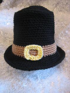 Crochet Baby Pilgrim Hat  Fall Thanksgiving by crochet2love1, $18.00