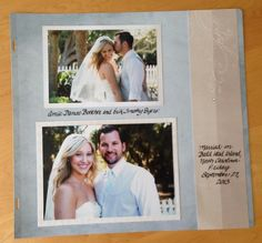 Our Memories for Life page layout: CLEAN SLATE BLUE page with CREME de la CREME border. Elegant and beautiful without any fuss. The Black Calligraphy Pen was used for journaling. Wedding Borders, Life Page, Clean Slate, Calligraphy Pens, Page Layout, Helping Others, Journaling, Polaroid Film, Memories