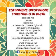 Come si esprime l'opinione in italiano?Perfeziona il tuo italiano con…