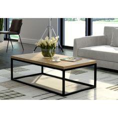 Stolik kawowy Bjurholm - Hugle Metal Grid, Wood And Metal, Living Room Designs, Living Room Decor, Pallet Beds, Industrial Furniture, House Rooms, My Room, Showroom
