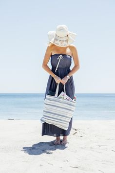 DIY // How to sew the perfect Honeymoon Beach Bag.. you choose the fabric and handles!
