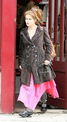Helena Bonham Carter - another fantastic coat, and great shoes.