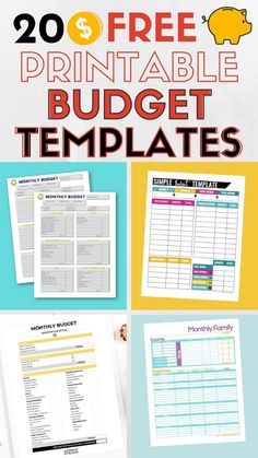 Take control of your finances with these free printable budget templates. You'll find weekly, biweekly, and monthly budget worksheets and free budget spreadsheet templates to help you win with money this year! #budget #budgetprintables #managemoney