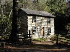 Virginia's Three Sisters Log Cabin I could live here. Old Cabins, Cabins And Cottages, Cabins In The Woods, Stone Cottages, Log Cabin Living, Log Cabin Homes, Cabana, Early American Homes, Virginia