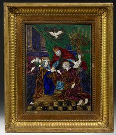 Attribué à Jean Court, dit Vigier, Limoges, début XVIIème siècle. Le Mariage de la Vierge.  Photo Artcurial - Briest-Poulain-F.Tajan - Paris
