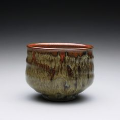 Stoneware yunomi with iron red and wood ash glazes https://www.etsy.com/shop/rmoralespottery