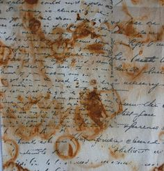 "Detail of a ""rust dye"" treatment on fabric.  Follow the link to see the directions.  I want to try this."