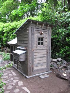 Design by Bob Bowling Rustics  Now this is the tn outhouse design that looks like a new coop...