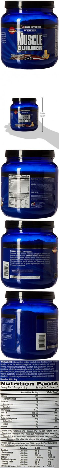 Weider 50463 Dynamic Muscle Builder-Chocolate, 536 g