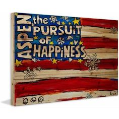 Marmont Hill Aspen Pursuit of Happiness by Tori Campisi Painting Print on Natural Pine Wood, Size: 36 inch x 24 inch, Multicolor