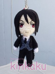 "Inspiration from Nendoroid, he is Sebastian Michaelis from Kuroshitsuji. *0* He is 5"" high, I really love to make this doll size. -3-"