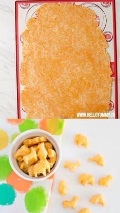 Homemade Cheese Animal Crackers - Preparing Snacks For Your Children Healthy Homemade Snacks, Homemade Baby Foods, Healthy Snacks For Kids, Homemade Toddler Snacks, Healthy Salty Snacks, Healthy Store Bought Snacks, Healthy Crackers, Healthy Food, Easy Snacks For Kids