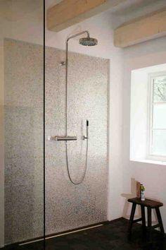 Kleines Bad Mosaik Fliesen Braun Creme Moderner Duschkopf   Bathroom    Pinterest   Interiors, Walls And House