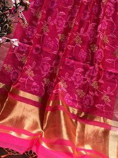 Soft Maheshwaris with cross-stitch Parsi work  Price:4150+gst Order what's app 7995736811