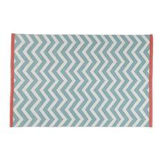 Kurzhaarteppich aus Baumwolle WAVE, 140 x 200 cm, wassergrün